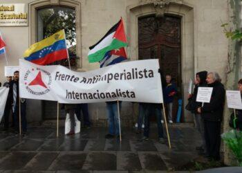 Concentración contra los 70 años de la OTAN en Madrid