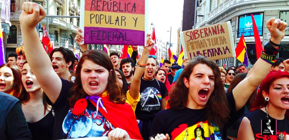 88 años de la II República. La juventud con la tricolor