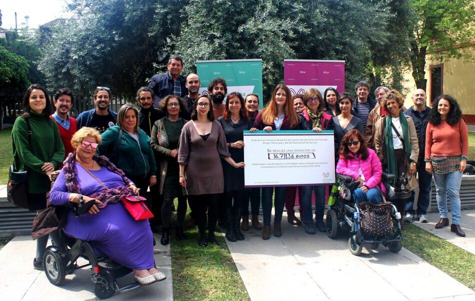 Participa Sevilla dona más de 16.000 euros para diferentes proyectos sociales