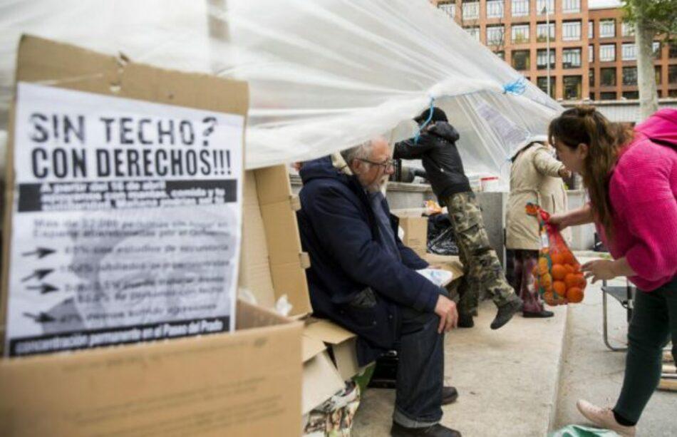 Las personas sin techo reivindican sus derechos en una campaña electoral sin sitio para ellas