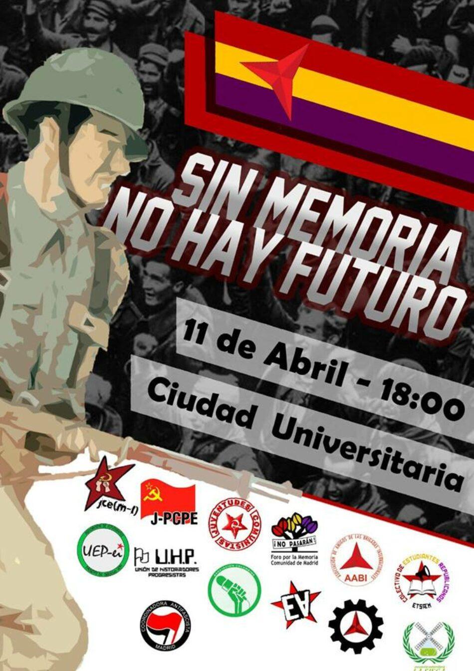 «Sin memoria no hay futuro»: homenaje a las Brigadas Internacionales