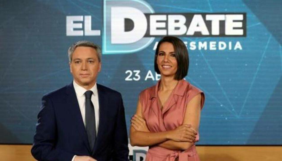 La Junta Electoral Central (JEC) suspenderá el debate electoral de Atresmedia si se incluye a un partido sin representación parlamentaria como Vox