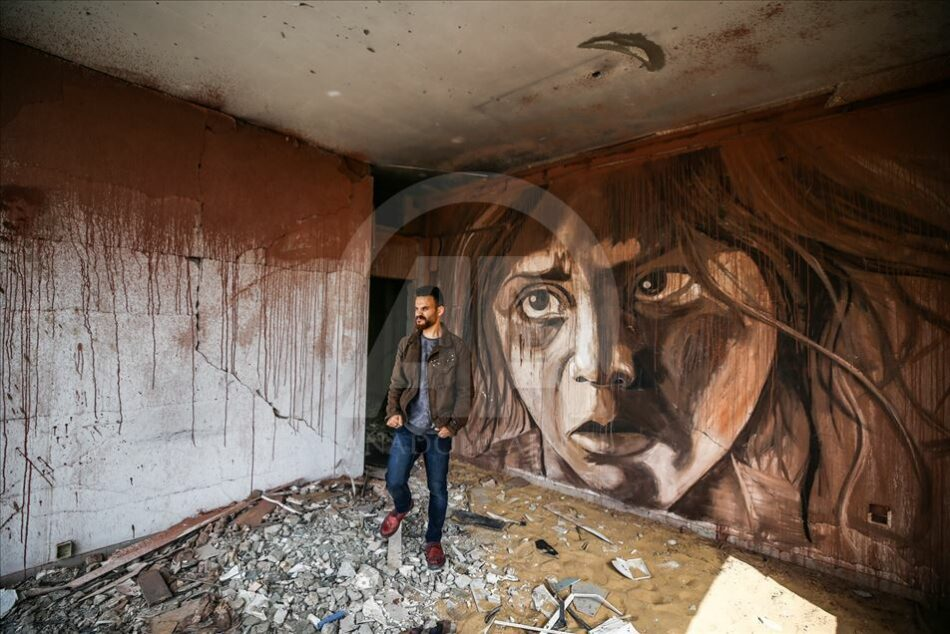 Exposición «Soñadores entre los escombros» en Gaza