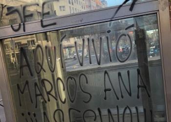 """Enrique Santiago tacha de """"vandalismo repugnante"""" el ataque contra la placa en memoria del poeta y militante comunista Marcos Ana inaugurada hace apenas 10 días"""