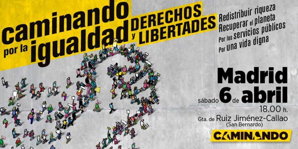 Más de 200 colectivos se manifestarán hoy en Madrid en la movilización Caminando