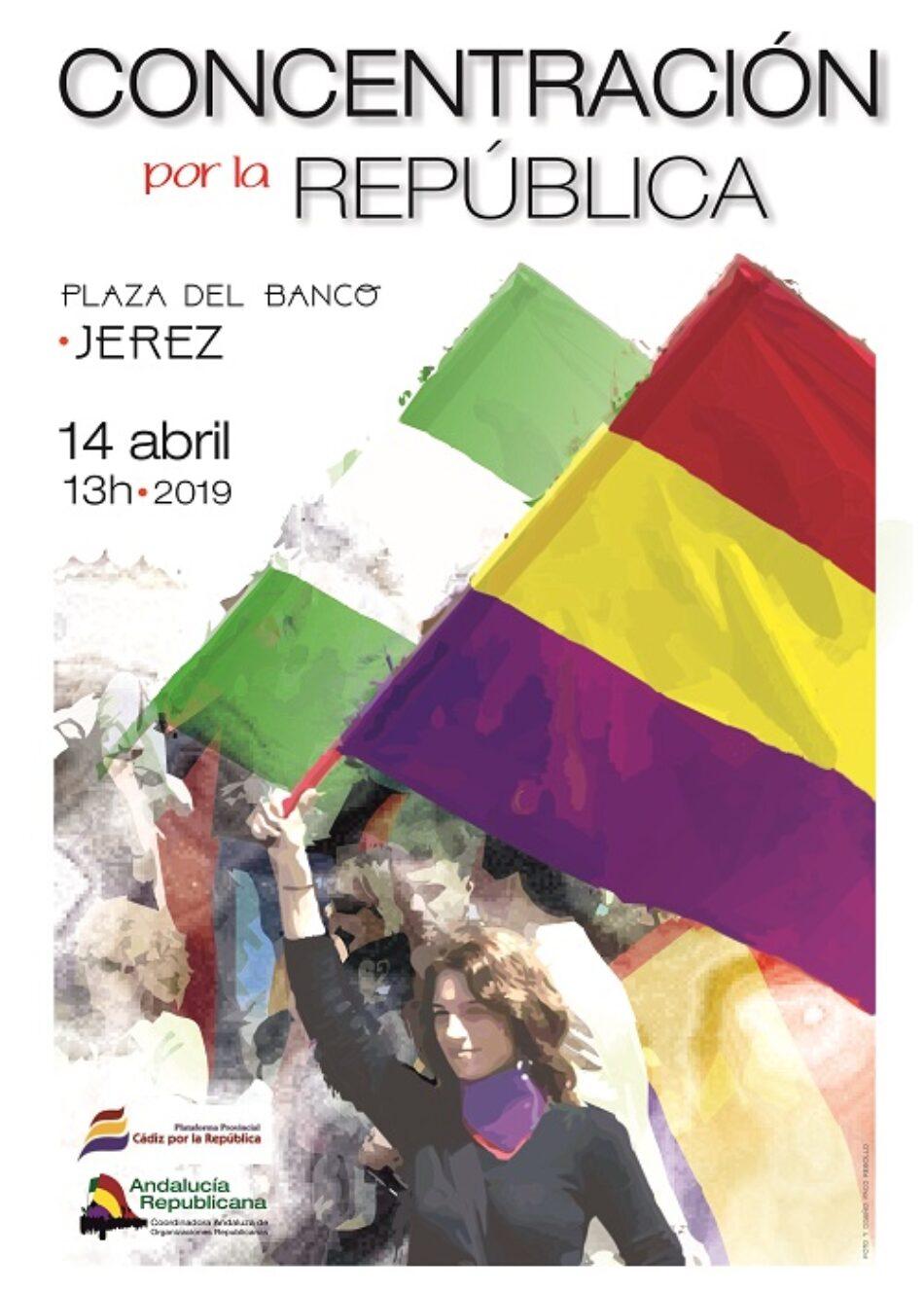 La Plataforma provincial Cádiz por la República convoca concentración el 14 de Abril