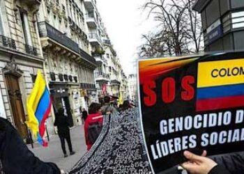Colombianos marchan a La Haya para pedir respaldo a la paz