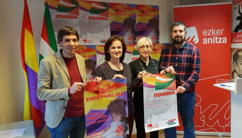 Alberto Garzón conmemora el domingo en Eibar el aniversario de la República en el marco de la campaña estatal de Unidas Podemos