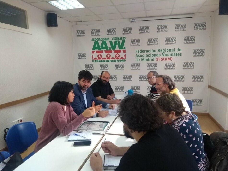 La FRAVM presenta a Carlos Sánchez Mato sus propuestas para mejorar Madrid
