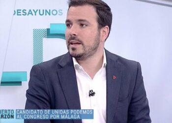 """Alberto Garzón considera que """"cuanto mejor resultado tenga Unidas Podemos"""" será """"menos probable"""" que Sánchez y Rivera pacten y formen gobierno"""