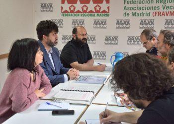 La FRAVM traslada a Sánchez Mato, Rommy Arce y Pablo Carmona su batería de propuestas para las elecciones municipales