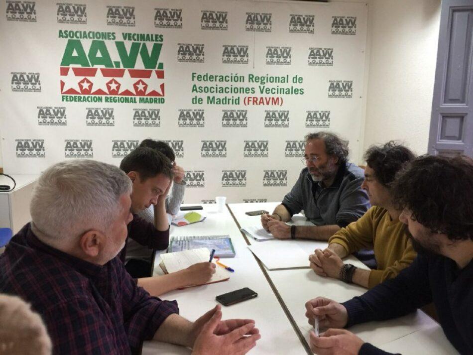 La FRAVM presenta a Íñigo Errejón sus propuestas para la Comunidad de Madrid