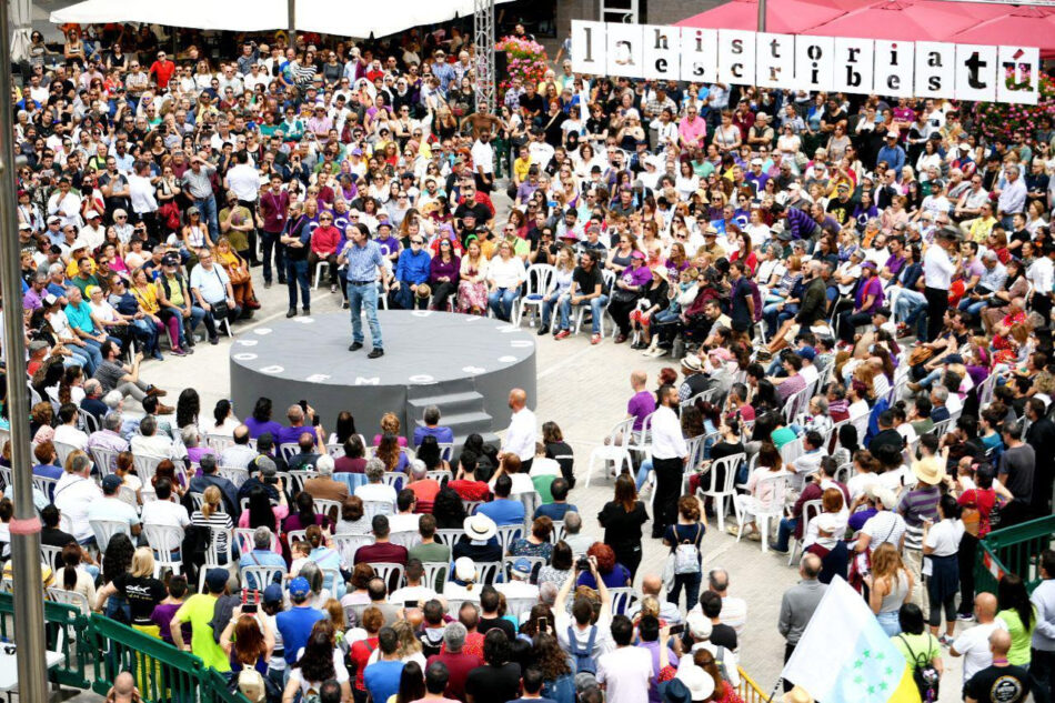Iglesias: «Traicionar a la patria es privatizar la empresa pública»