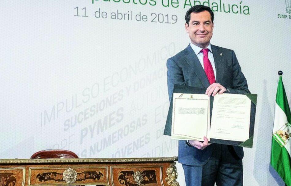 La rebaja fiscal de la Junta de Andalucía: un pobre se ahorrará 63 euros y un rico, 1.728