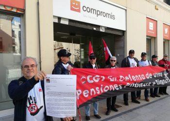 Jubilad@s y Pensionistas de CGT hacen llegar sus propuestas a los partidos políticos valencianos para que aseguren pensiones públicas dignas