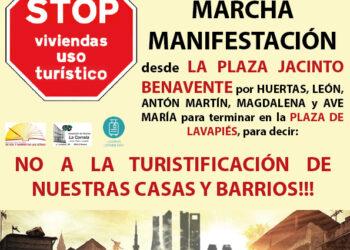 """El vecindario de Letras y Lavapiés se manifiesta contra la """"turistificación"""" se sus """"casas y barrios"""""""