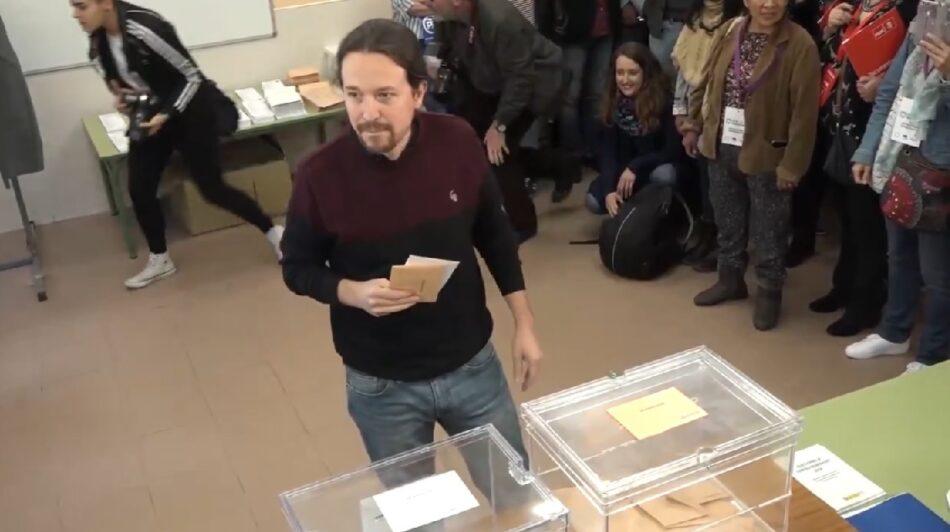"""Pablo Iglesias: """"Siempre es la mejor noticia para la democracia que la participación sea alta"""""""