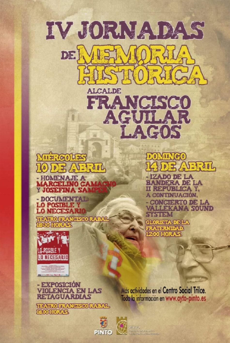 IV Edición de las Jornadas de Memoria Histórica en Pinto (Madrid)