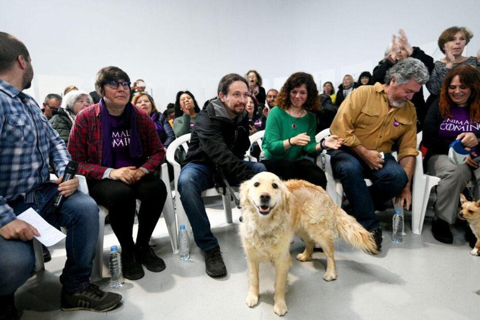 Iglesias:»Podemos convertir a este país en una referencia contra el maltrato animal»