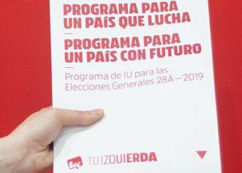 Izquierda Unida concreta en 22 medidas clave su ambicioso 'Programa Electoral para un País que Lucha, para un País con Futuro'