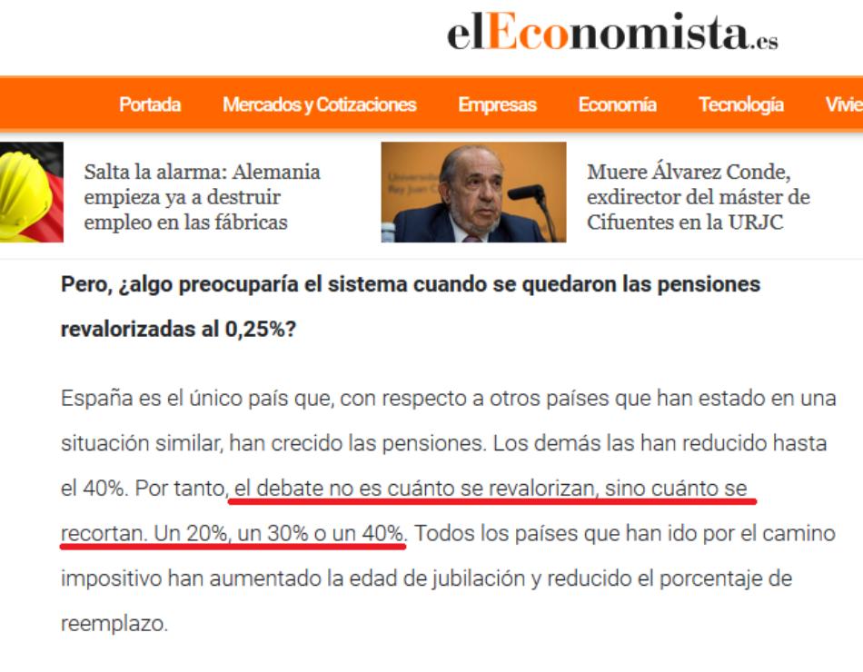 Daniel Lacalle niega ahora sus propias palabras sobre las pensiones: «el debate no es cuánto se revalorizan, sino cuánto se recortan. Un 20%, un 30% o un 40%»