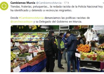 """Cambiemos Murcia condena la """"redada racista"""" que tuvo lugar ayer en el barrio del Carmen"""