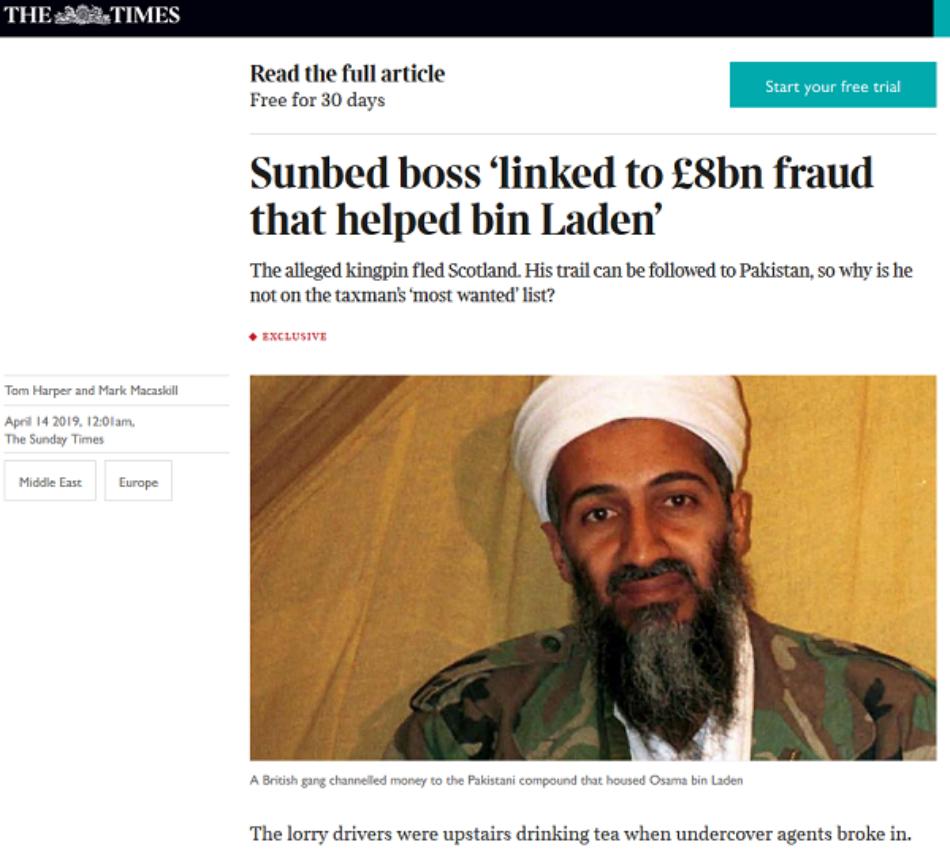 The Sunday Times: Sucesivos gobiernos británicos permitieron deliberadamente la financiación de Al Qaeda