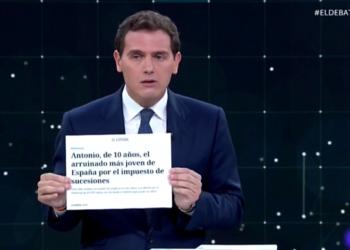 Albert Rivera sobre Sucesiones: «suprimiremos el impuesto de la muerte en los primeros 100 días de Gobierno»