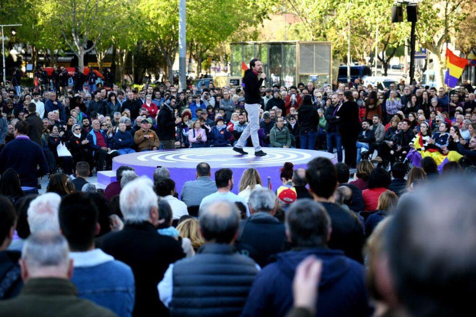 Pablo Iglesias en Barcelona: «El conflicto político de Cataluña no se va a solucionar ni con cárcel ni con jueces, sino dialogando y haciendo política»