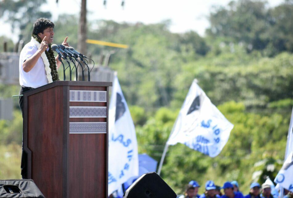 Evo Morales encabeza multitudinario lanzamiento de campaña electoral en Bolivia