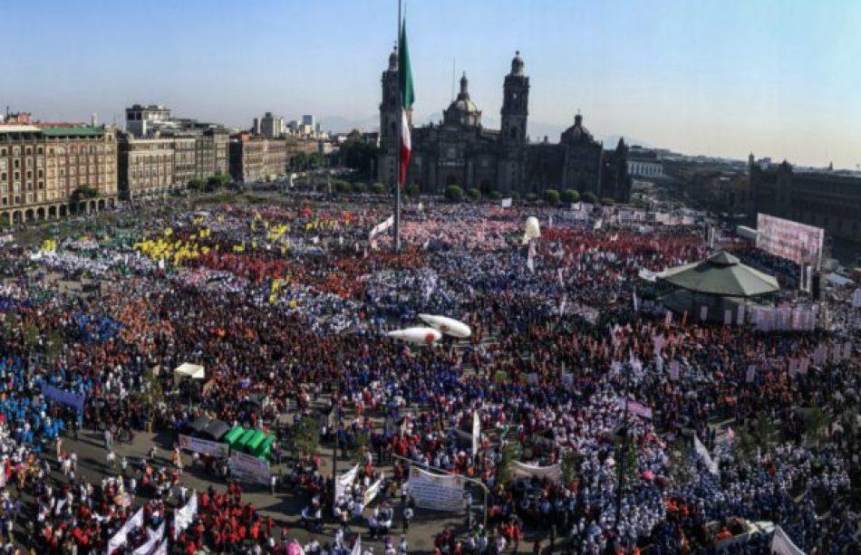 Masiva movilización sindical en Ciudad de México: CNTE reclamó anulación de Reforma Educativa