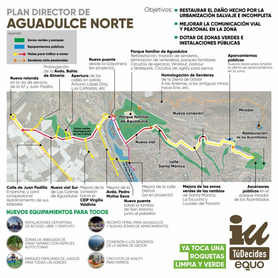 IU, Tú Decides y Equo proyectan un plan director para que Aguadulce Norte esté mejor comunicada y equipada