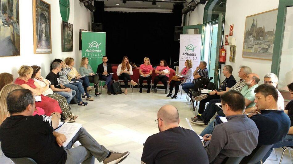 Adelante Sevilla se postula como la única opción política que garantiza los servicios públicos y defiende a los trabajadores