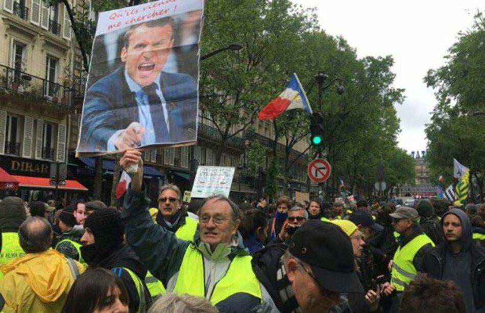 Los Chalecos Amarillos continúan sus protestas contra las políticas de Macron