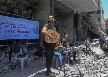 Gaza celebra un 'Eurovisión alternativo' entre las ruinas de los bombardeos