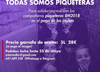 Campaña de aceite solidario #YoTambienFuíPiquetera