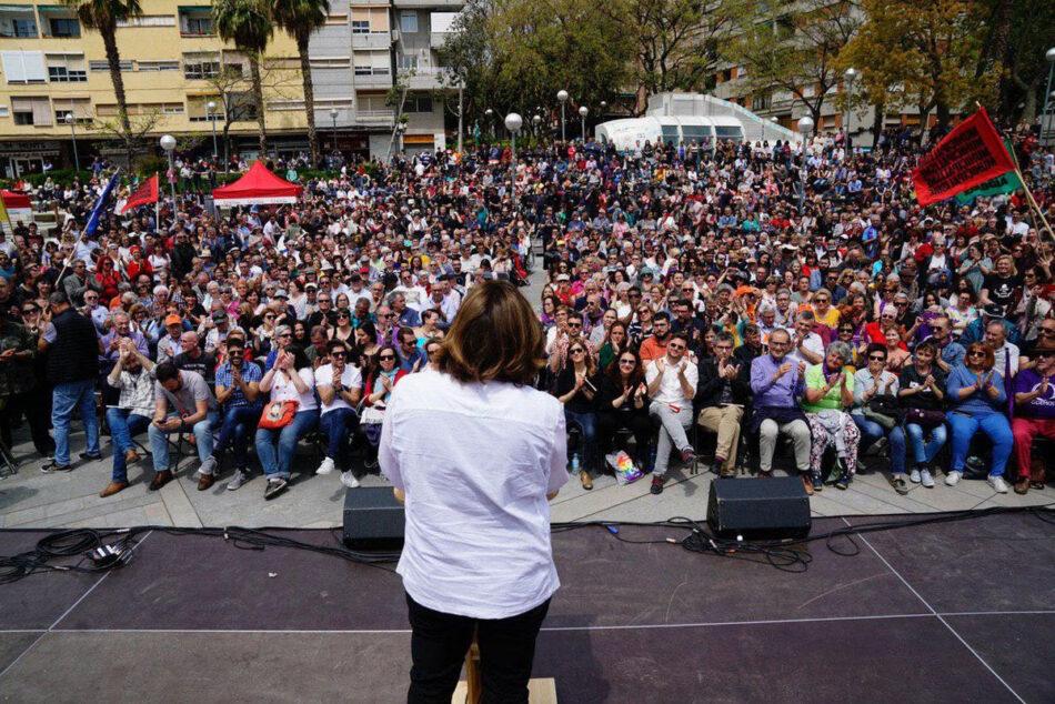 """Ada Colau: """"Amb la força de la gent vull tornar a ser alcaldessa i liderar un govern progressista a la ciutat"""""""