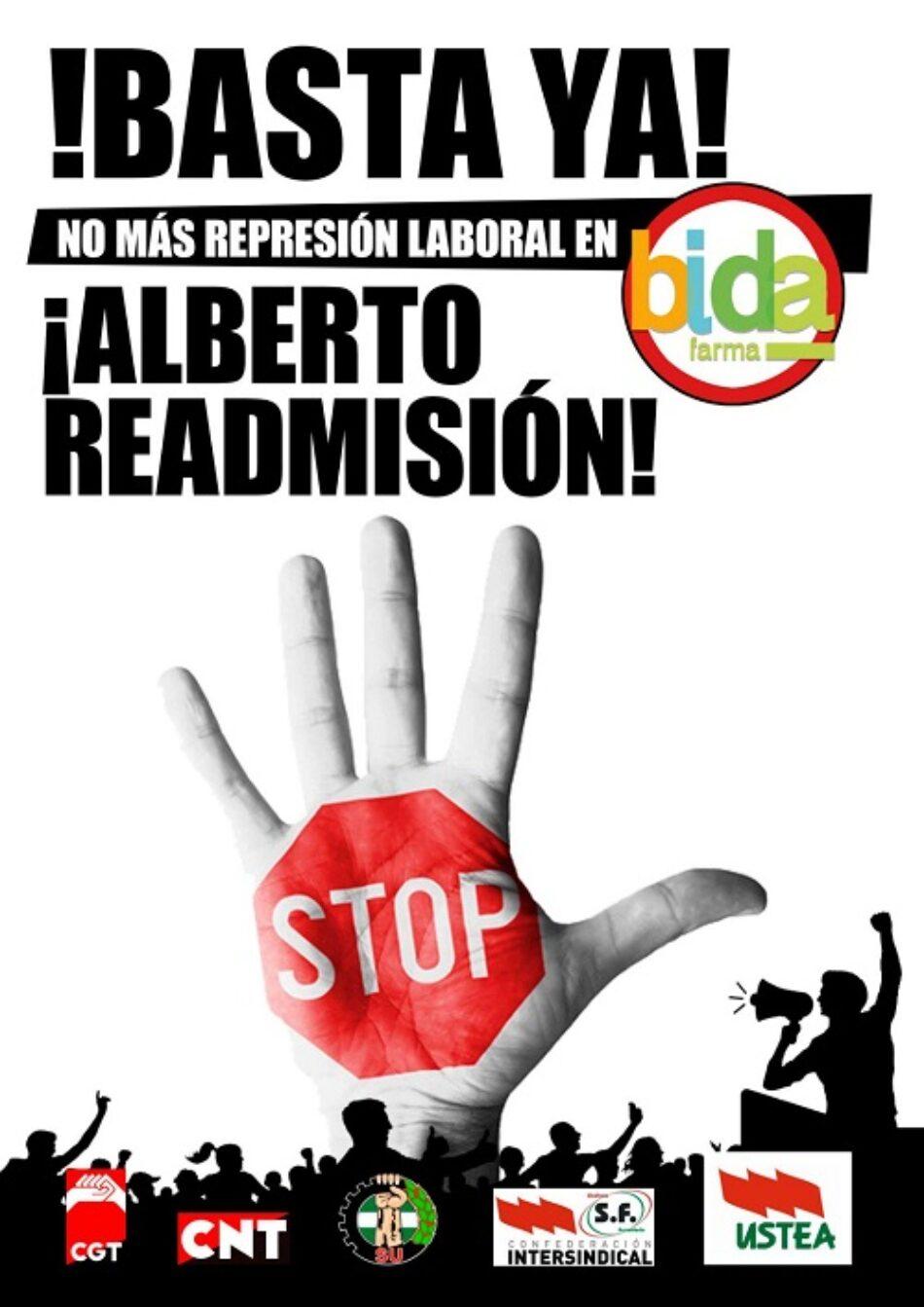 No a la represión sindical en Bidafarma