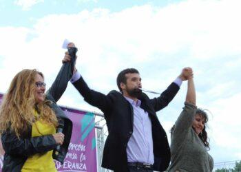 El acto electoral de Jesús Santos llena al completo el Parque de La Rivota en Alcorcón