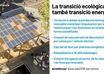 Ada Colau: «Barcelona doblarà la seva oferta d'energia renovable i generarà nova ocupació»