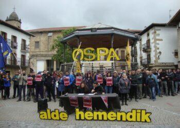 OSPA!, contra el control social de la policía foral y la Guardia Civil en Altsasu