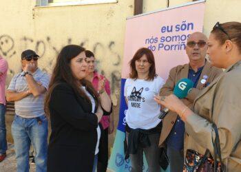 Vanessa Angustia denuncia a situación da EDAR do Lagares en Vigo