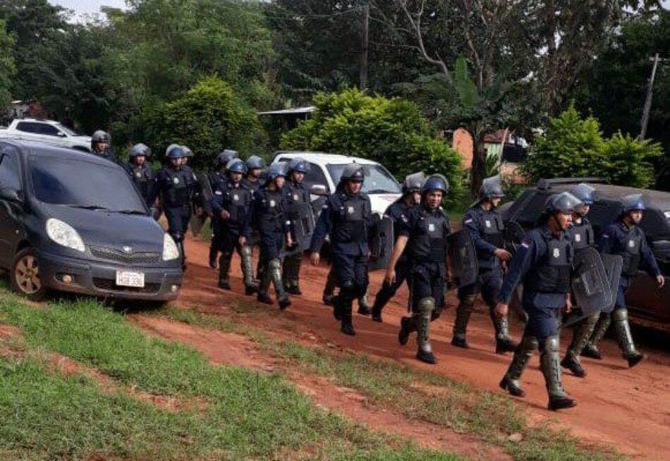 Paraguay. 600 policías desalojaron a 20 familias campesinas y destruyeron sus viviendas