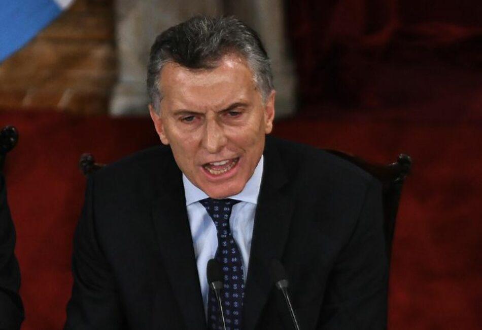 Argentina y el grito desesperado de Macri
