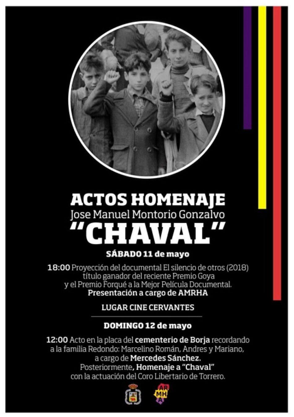 """Actos homenaje a José Manuel Montorio, """"Chaval"""", guerrillero borjano"""