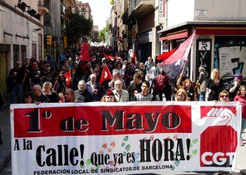 Manifestación del 1 de Mayo en Barcelona: «la respuesta es la calle»