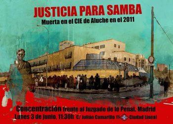 Concentración frente al juzgado de lo Penal en Madrid: «justicia para Samba Martine»