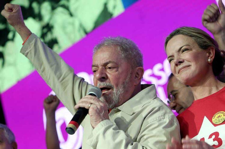 Lula representa la soberanía de Brasil, considera el PT