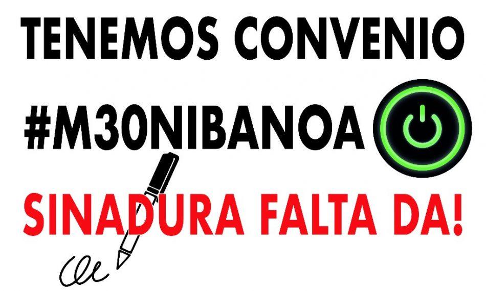 Movilización en la sede de CEBEK (Bilbao): «30 de mayo. ¡Oficinas y Despachos en lucha!»