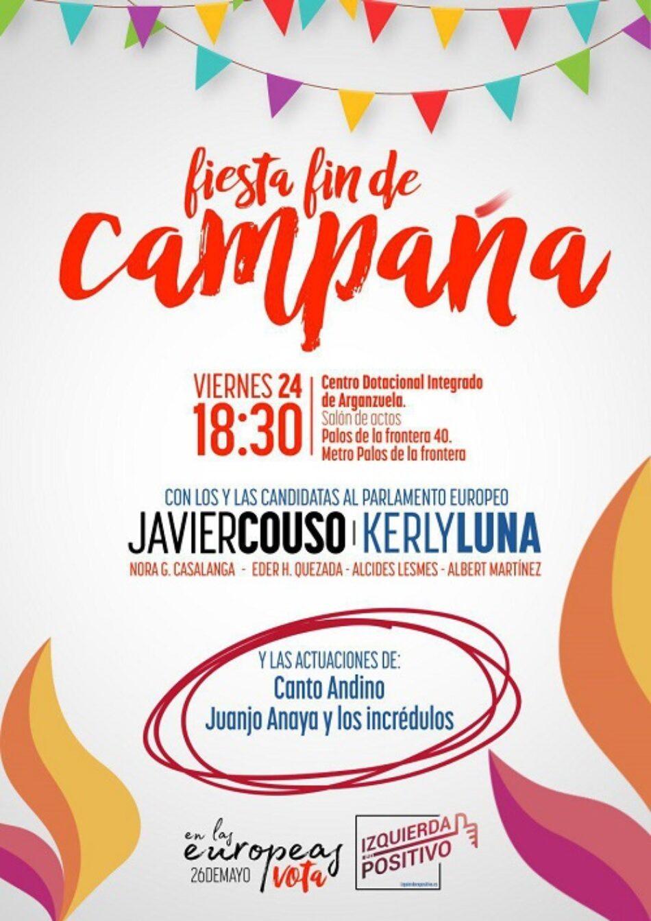 Cierre de campaña de Izquierda en Positivo en Madrid con el candidato al Parlamento Europeo Javier Couso